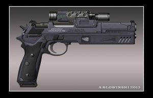 Antonio Offensive 990 Machine Pistol by BlackDonner