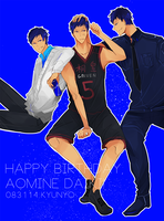 Happy birthday Aomine! by kyunyo