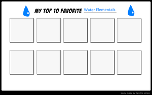 Top 10 Favorite Water Elementals Meme by ajpokeman