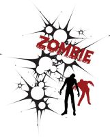 zombie t-shirt by qwijibo