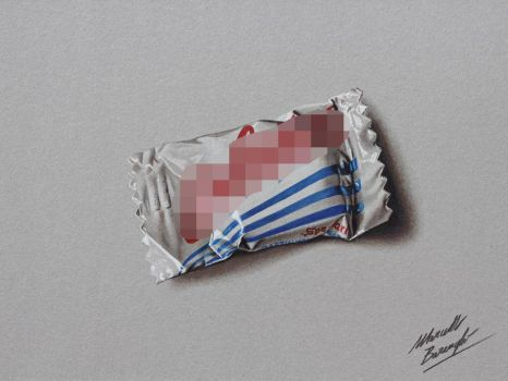Galatine milk candy DRAWING by Marcello Barenghi by marcellobarenghi