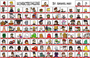 101 Characters Meme (FINAL) by Neopolis