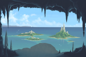 Cave view by BlueMidna