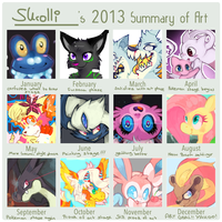 Art Summary [2013] by chickenmcfuckit