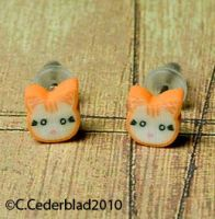 Cute cat earrings by skuggsida