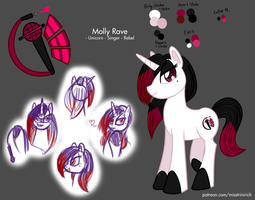 Molly Rave - Reference sheet (OC) by AniRichie-Art