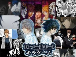 Death Note--wallpaper by zieLarc