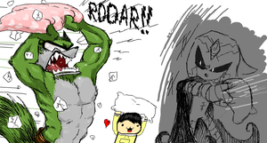 Collab : Pillow fight by Ludolik