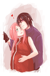 Sasusaku Family 07 by Fey-Rayen