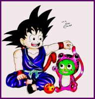 Goku and Frosch by JackieScarlet