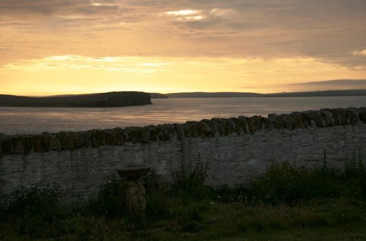 Orkney sunset by barefootliam