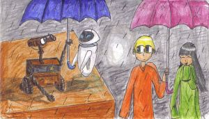 WallE and Wally's unbrella by DSakanumbuh419