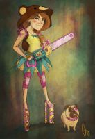 Wanna see my CUTE chainsaw? - How Do I draw by ScribbleNetty