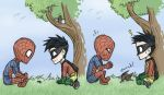 Robin and Spiderman by iesnoth