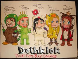 Dethklok in FF Cosplay by neoanimegirl