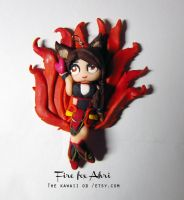 Fire fox ahri Charm by Thekawaiiod