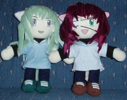 Loveless Zero boys plushies by magickitty1972