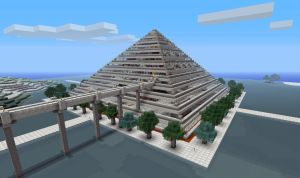 Minecraft Pyramid Mall n hotel by poste744