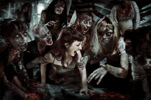 zombie picnic by Heile