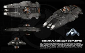 Hiigaran Assault Corvette ortho by unusualsuspex