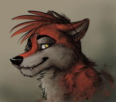 Red demon wuff by Starwuff