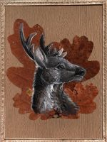 king of the forest (painted oak leave) by Schiraki