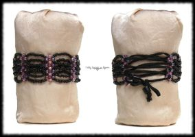 Purple scales bracelet by Cayca