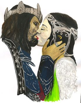 Aragorn and Arwen by booky1