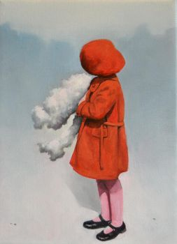 Girl with a cloud by liquidclouds