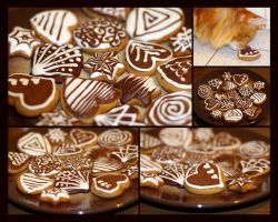 monochrome honey cookies by ruda-kun