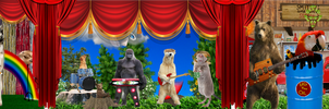 Rock-afire Explosion as Real Animals by HardLuck-Bear