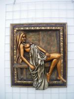 framed sculpture - beauty #3 by faivico