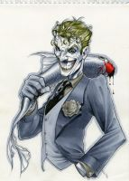 Joker 9x12 Drawing by RichardCox