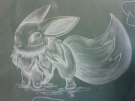 Eevee- chalk by ginnyw143