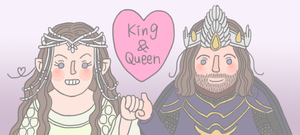 King and Queen by girabbit