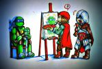 C-C-COMBO! (crossover AC2 and TMNT) by KeddyBreeze