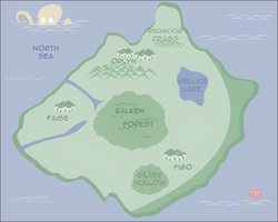 Map for the Unnamed Continent by Cryaotic