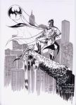 Batman over Gotham City by SpiderGuile