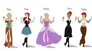 Princess Character Line Up by LindyArt