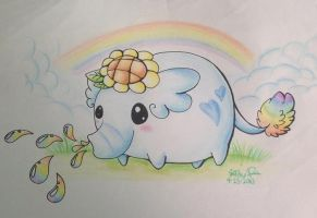 :Squirting Rainbows: by PrePAWSterous