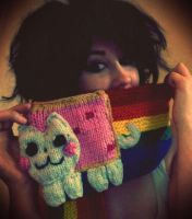 Nyan Cat scarf! by HanBamBam