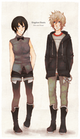 Xion.Roxas: Casual Clothes by ruuari