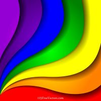 Colorful Rainbow Background Vector Illustration by 123freevectors