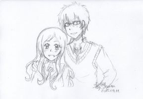Lilly and James Potter Commission 12 by Kawaragi-Shuran