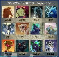2013 Summary of Art by WindWo1f