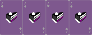 Ace Deck 79: Cake+Violet+Grey by Galadnilien