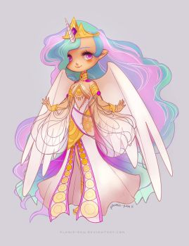 Princess Celestia by plumie-pan