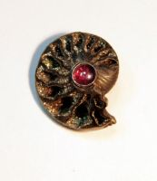 Ammonite Talisman pendant by SoulStoneDesigns
