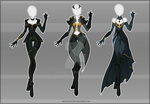 (CLOSED) Adoptable Outfit Auction 40-42 by Risoluce