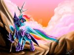 Rainbow Dash, the Dragon Knight by DrizztHunter